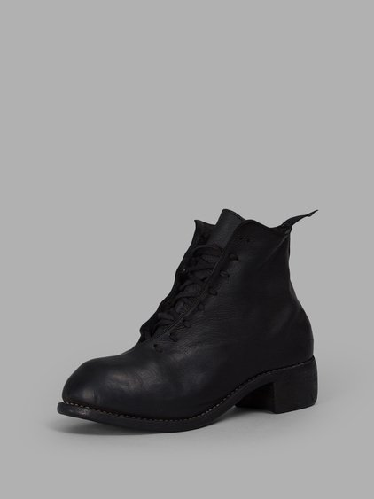 Guidi Men's Black Laced Ankle Boots