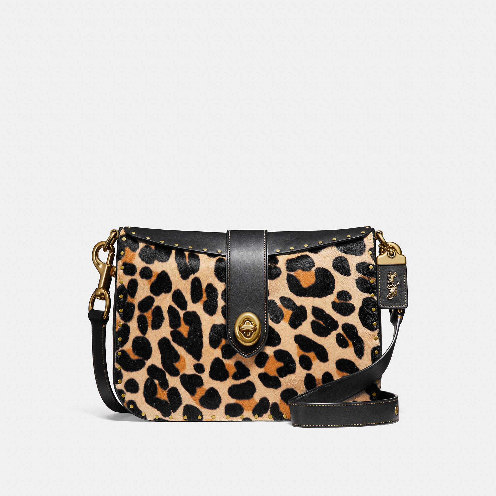 85cc8288ac1b Coach Page 27 With Leopard Print - Women's In Leopard/Brass | ModeSens