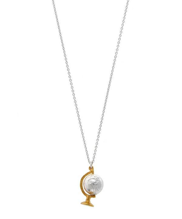 Alex Monroe Spinning Globe Necklace In Assorted