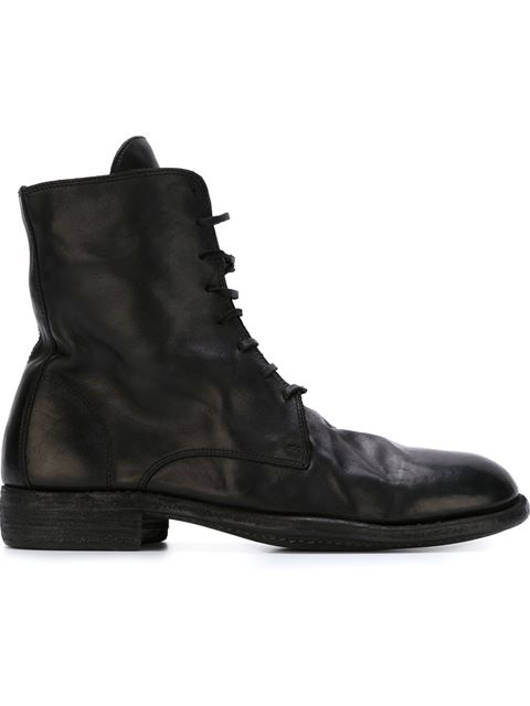 Guidi Lace-up Boots In Black