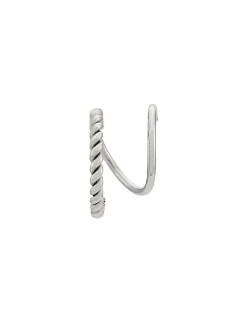 Maria Black Sofia Twirl Earring In Metallic