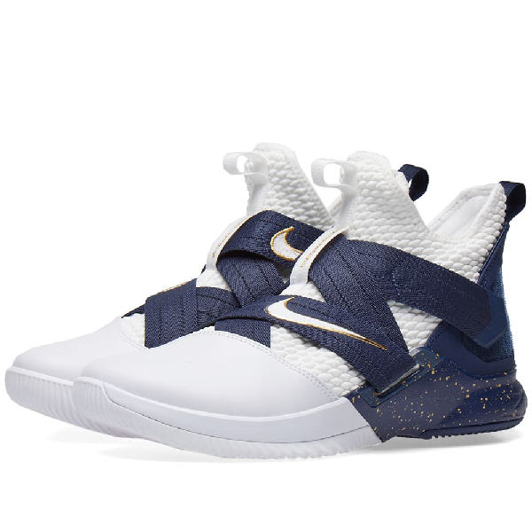 hot sales 8c08f 4c0ae Men's Lebron Soldier 12 Sfg Basketball Shoes, Blue in White