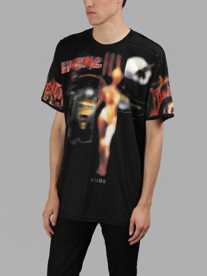 7fbb7dc3d Givenchy Columbian-Fit Distressed Printed Cotton-Jersey T-Shirt In Black