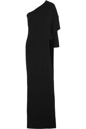Givenchy Woman One-Shoulder Stretch-Cady Gown Black