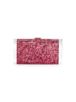 Edie Parker Lara Backlit Acrylic Clutch In Pink