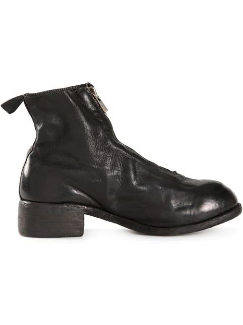 Guidi Black Zipped Boots