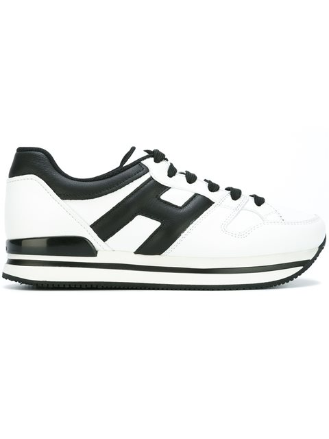Hogan Lateral Logo Sneakers In White