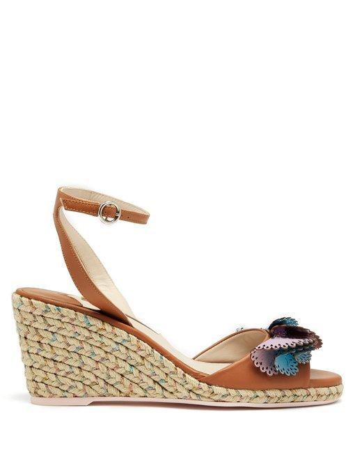 51c8ab0af6e Soleil Lucita Espadrille-Wedge Sandals in Beige And Multicoloured-Metallic  Plaited Espadrille-Wedge Heel