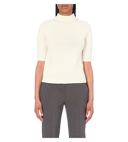 Theory Jodi Cashmere Jumper In Ivory