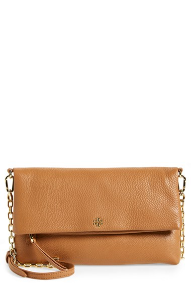 1118153a841b Tory Burch Foldover Cross Body Clutch In Bark