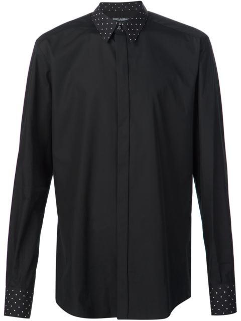 Dolce & Gabbana Polka Dot Detail Shirt