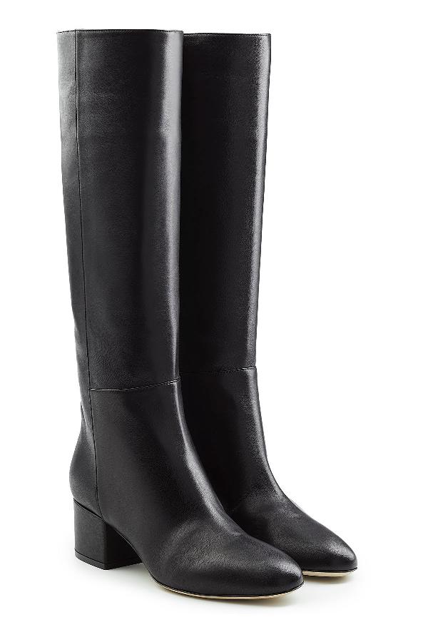 Sergio Rossi Virginia Leather Knee Boots In Black