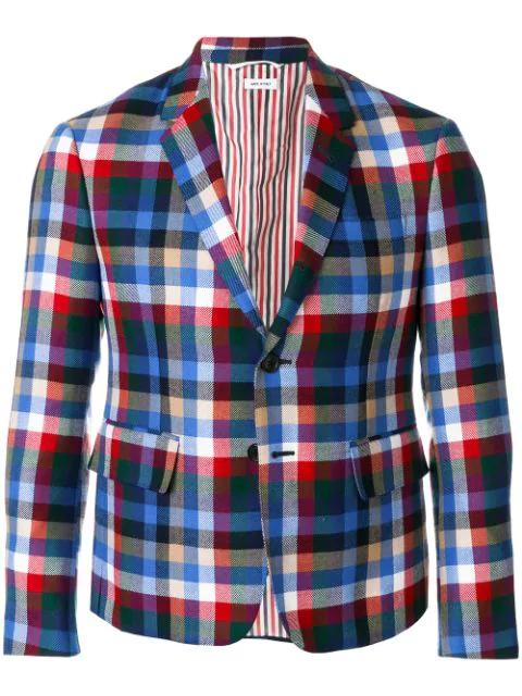Thom Browne Gingham Tartan Check Sport Coat - Multicolour