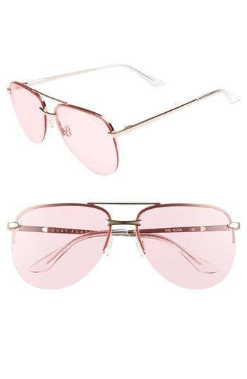 37e821ce92 Quay The Playa 64Mm Aviator Sunglasses - Rose  Pink