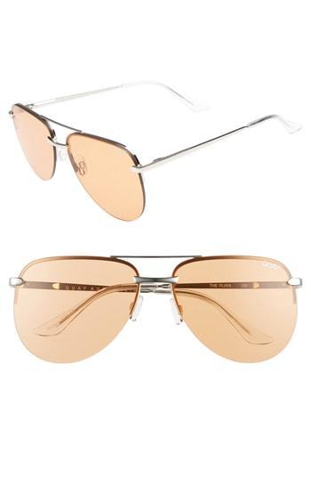 509efa0e78 Quay The Playa 64Mm Aviator Sunglasses - Silver Orange