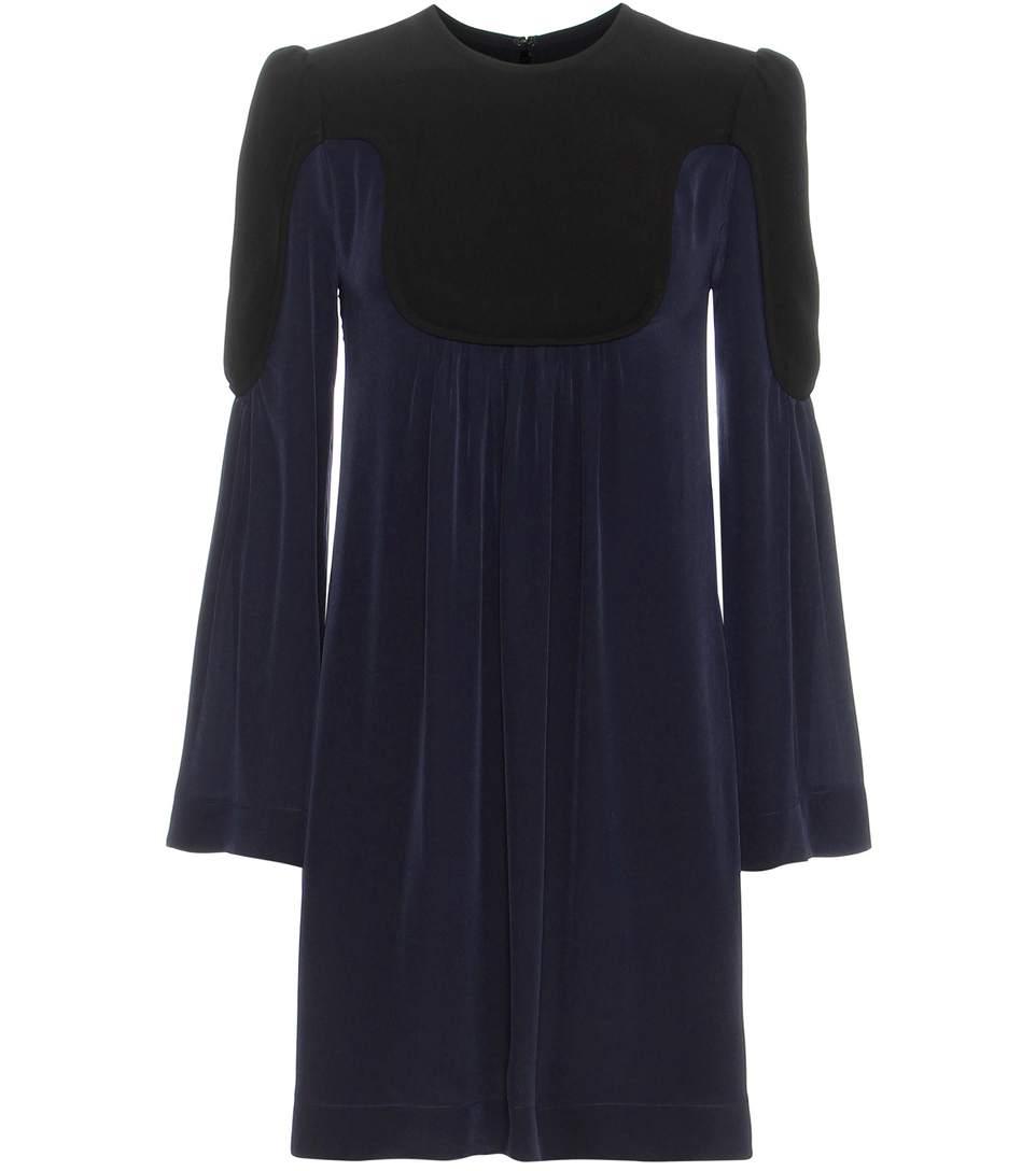 Victoria Victoria Beckham Silk Dress In Eavy