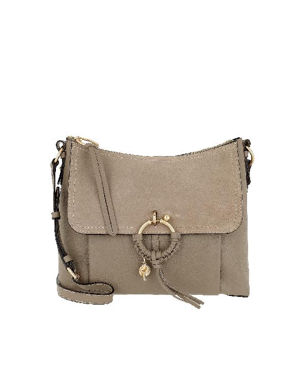 fd15fd024b32 See By ChloÉ See By Chloe Joan Leather Shoulder Bag In Grey