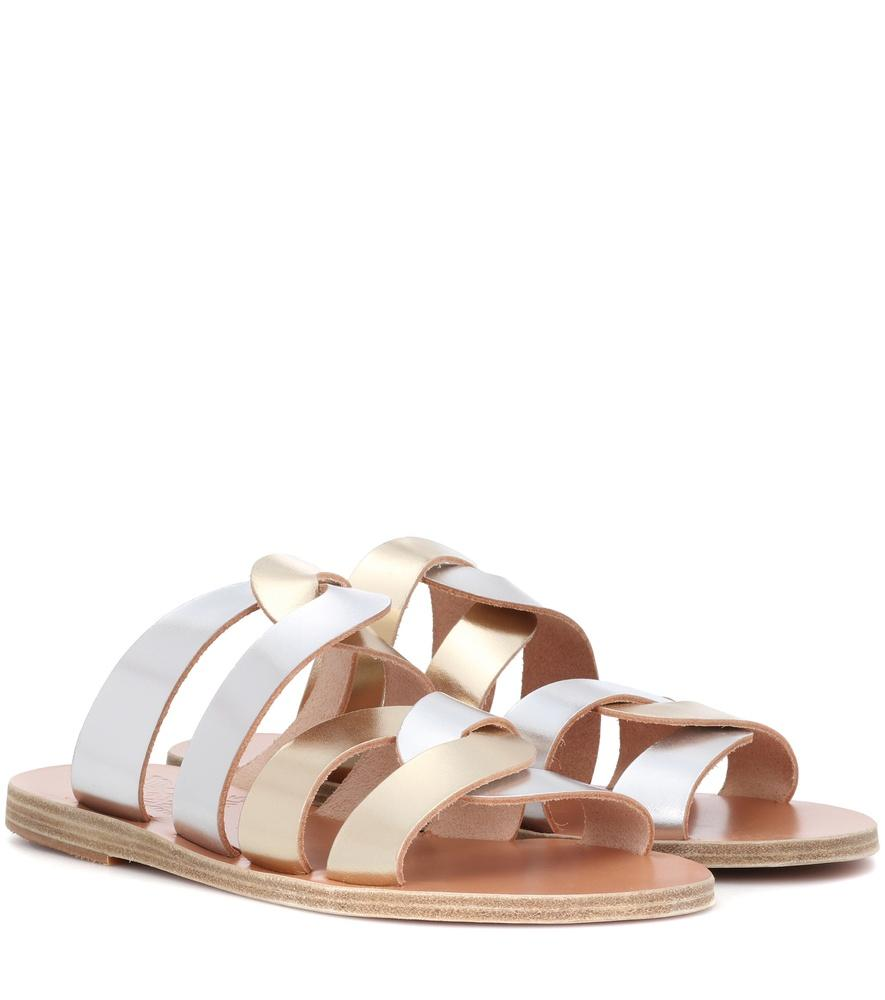 353450304 Ancient Greek Sandals Enosi Metallic Leather Sandals | ModeSens