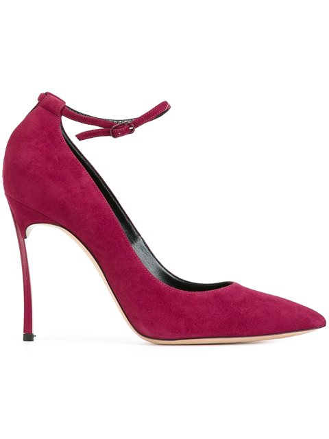 Casadei Ankle Strap Pumps In Uva Cardinal