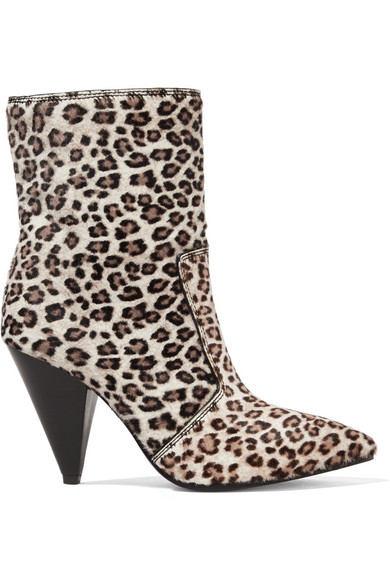 167348324701 Stuart Weitzman Atomic West Leopard-Print Calf Hair Ankle Boots In Leopard  Print