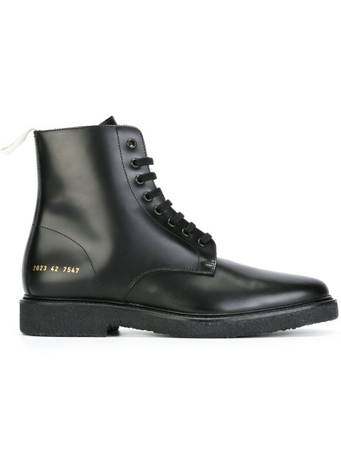 5d7dd694a472 Common Projects Black Standard Combat Boots