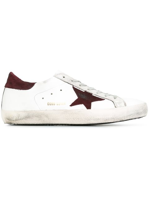 Golden Goose White & Gold Superstar Sneakers