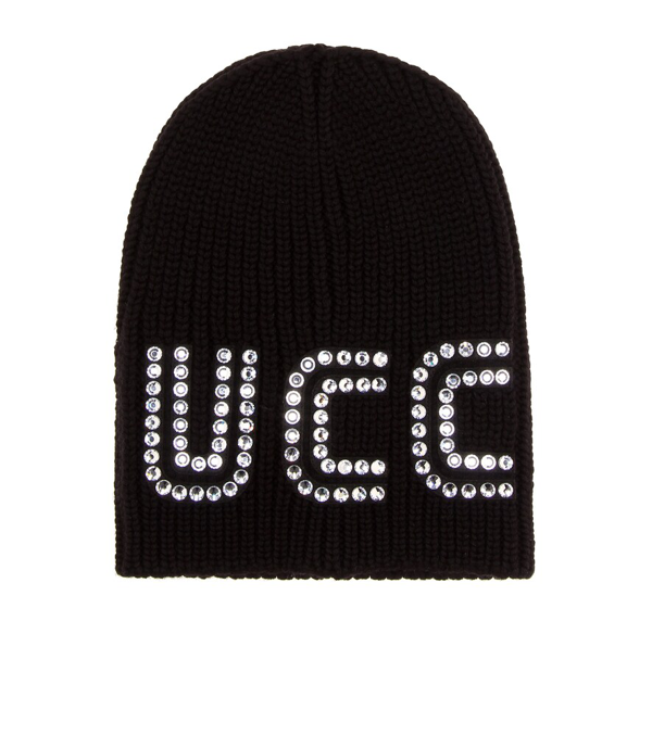 38331d4b618 Gucci Game Guccy Rib-Knit Wool Beanie Hat In 1000 Black | ModeSens