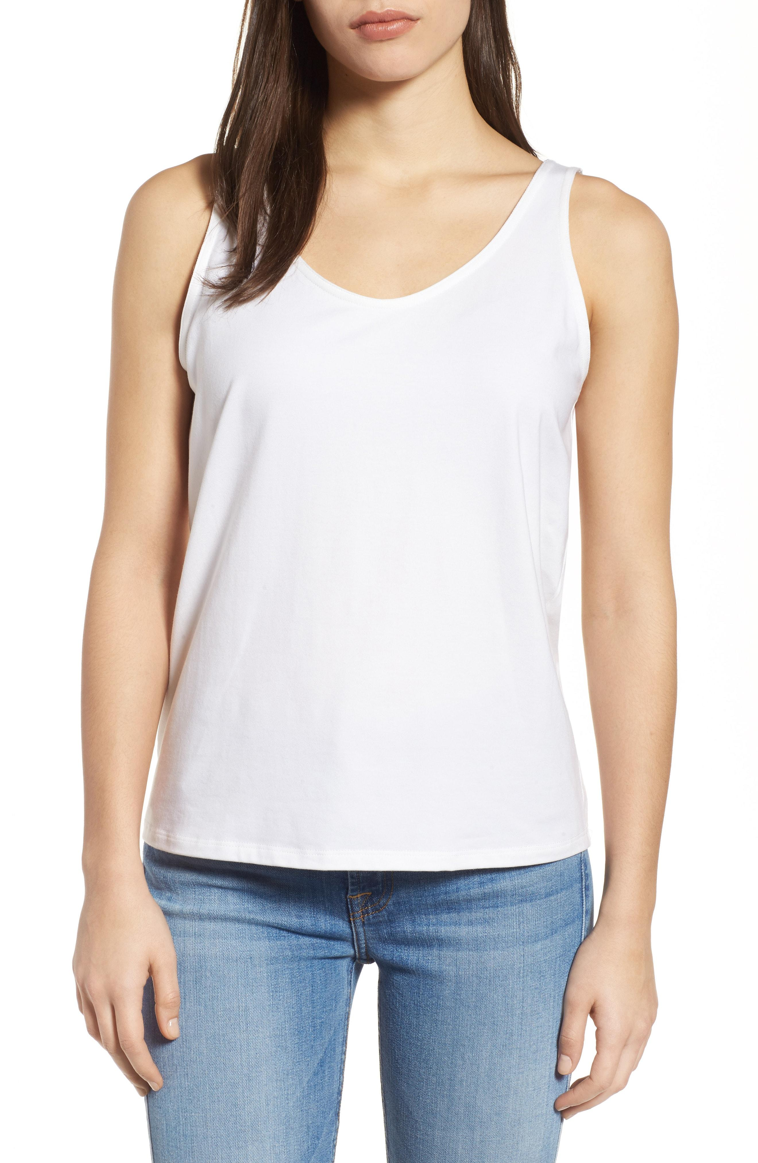 0a989c64e91dd Eileen Fisher System Organic Cotton Tank Top In White
