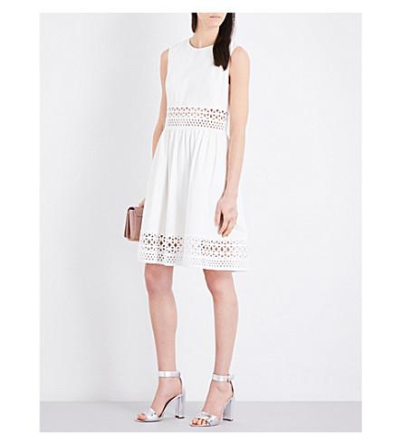 Ted Baker Cutwork Stretch-cotton Dress In White