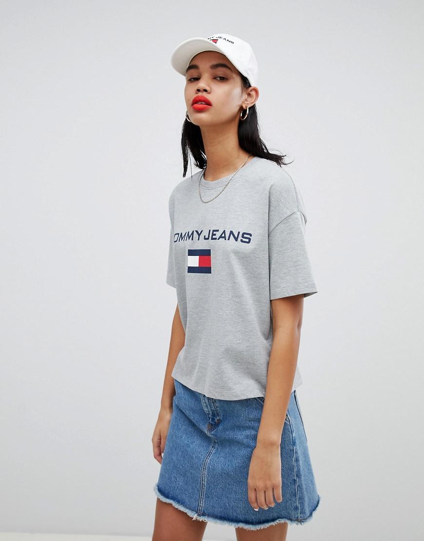 82db29c2 Tommy Jeans 90S Capsule 5.0 Logo T-Shirt - Gray | ModeSens