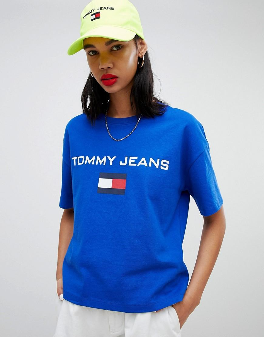 74a65ad9 Tommy Jeans 90S Capsule 5.0 Logo T-Shirt - Blue | ModeSens