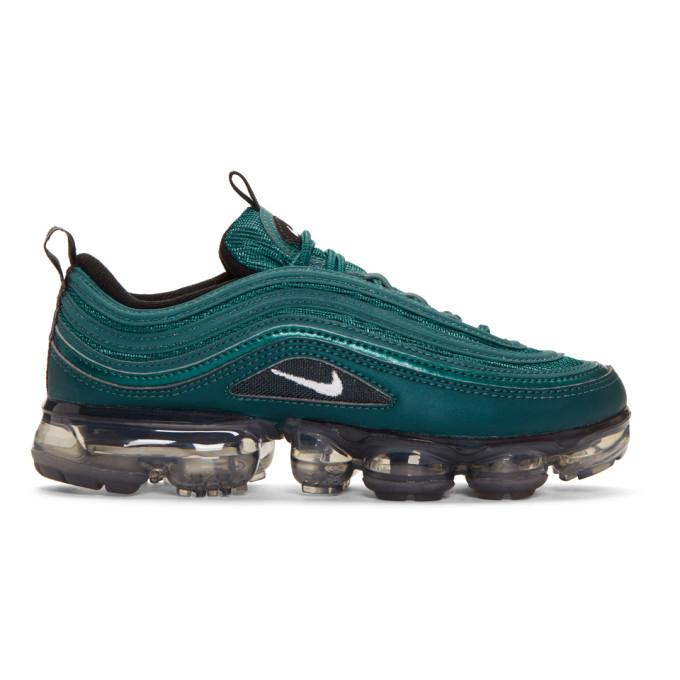 220cd8bada395 Nike Green Air Vapormax 97 Sneakers In 901 Mtlc Da | ModeSens