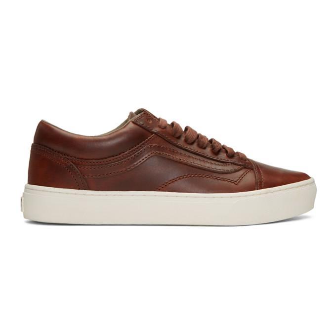 6246bd5f935e52 Vans Brown Horween Edition Old Skool Cup Lx Sneakers In Bone  12 ...