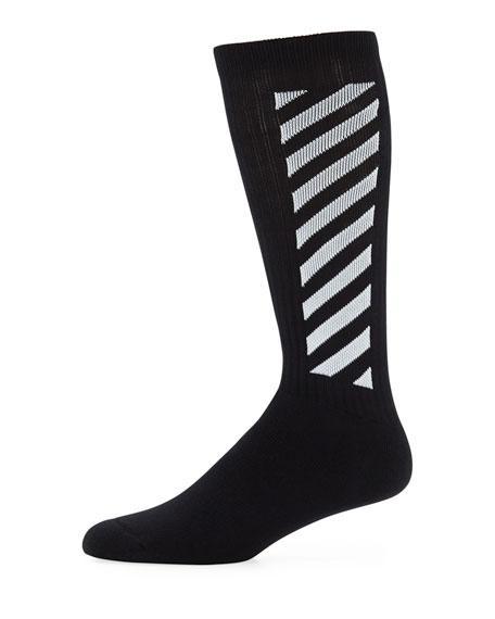 8cdabe7c7b9b Off-White Men s Wing Off Diagonal Socks In Black