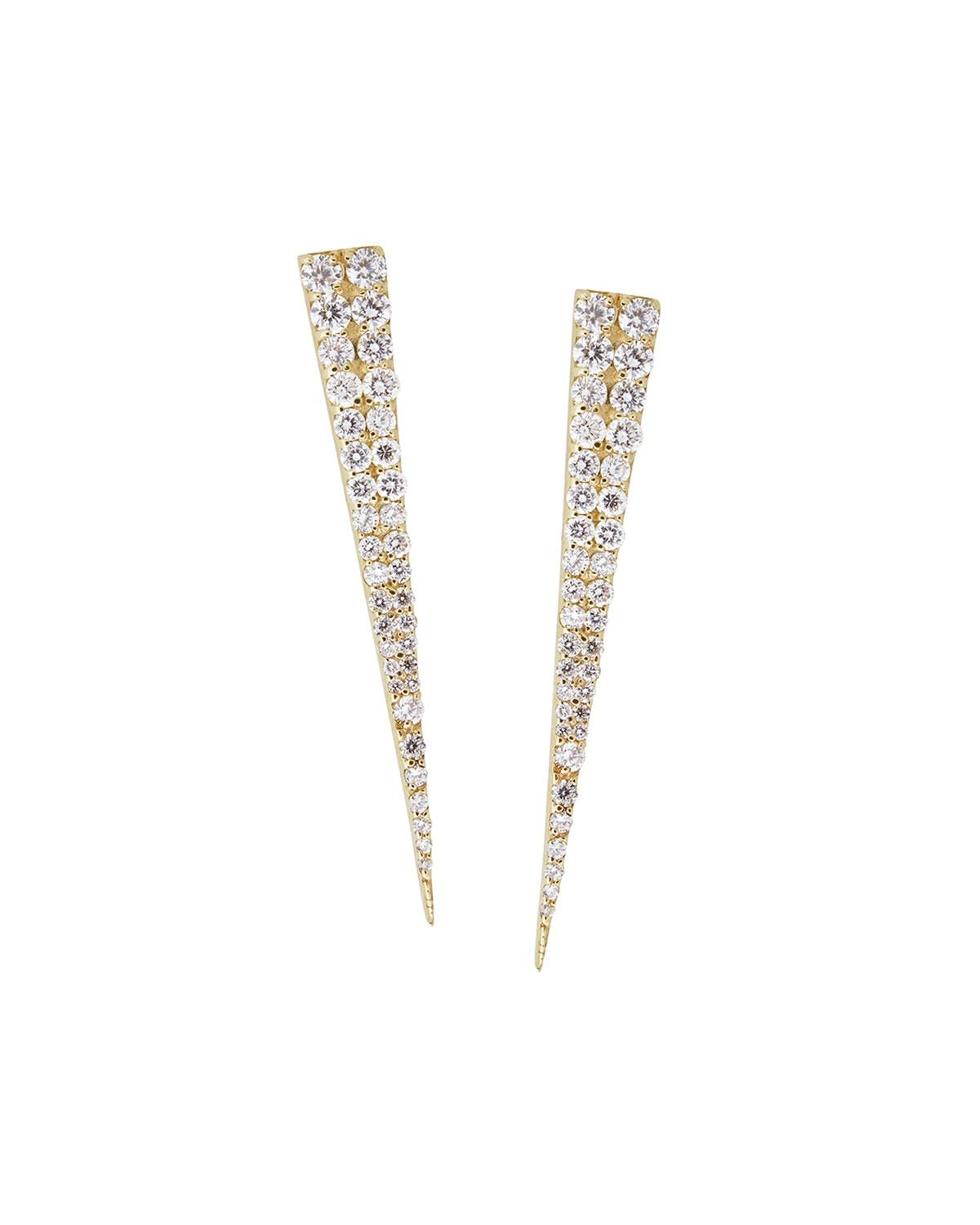 2e6aceb28 Lana 14K White Gold Diamond Spike Stud Earrings | ModeSens