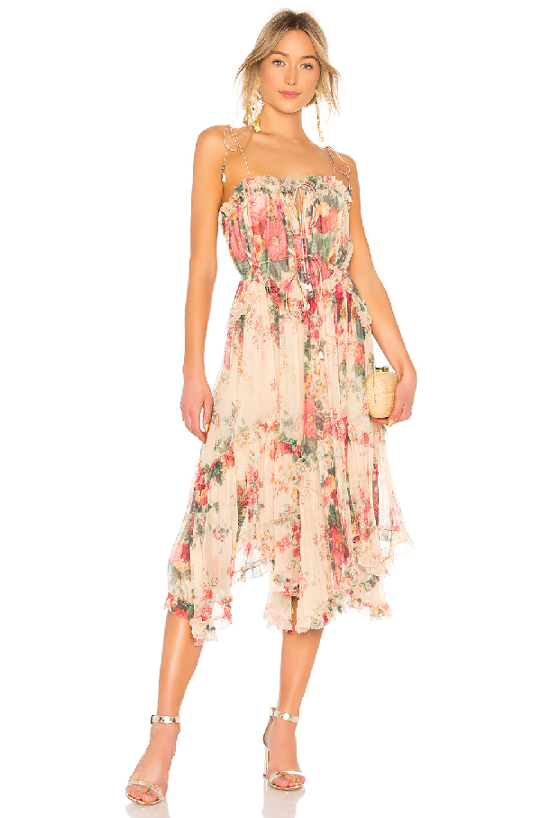 f7f5feca3805a Laelia Floral-Print Silk-Crepon Midi Dress in Meadow Floral