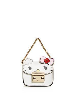 14f472523 Furla Hello Kitty Embossed Leather Mini Cosmetics Case In Toni Petalo  White/Gold