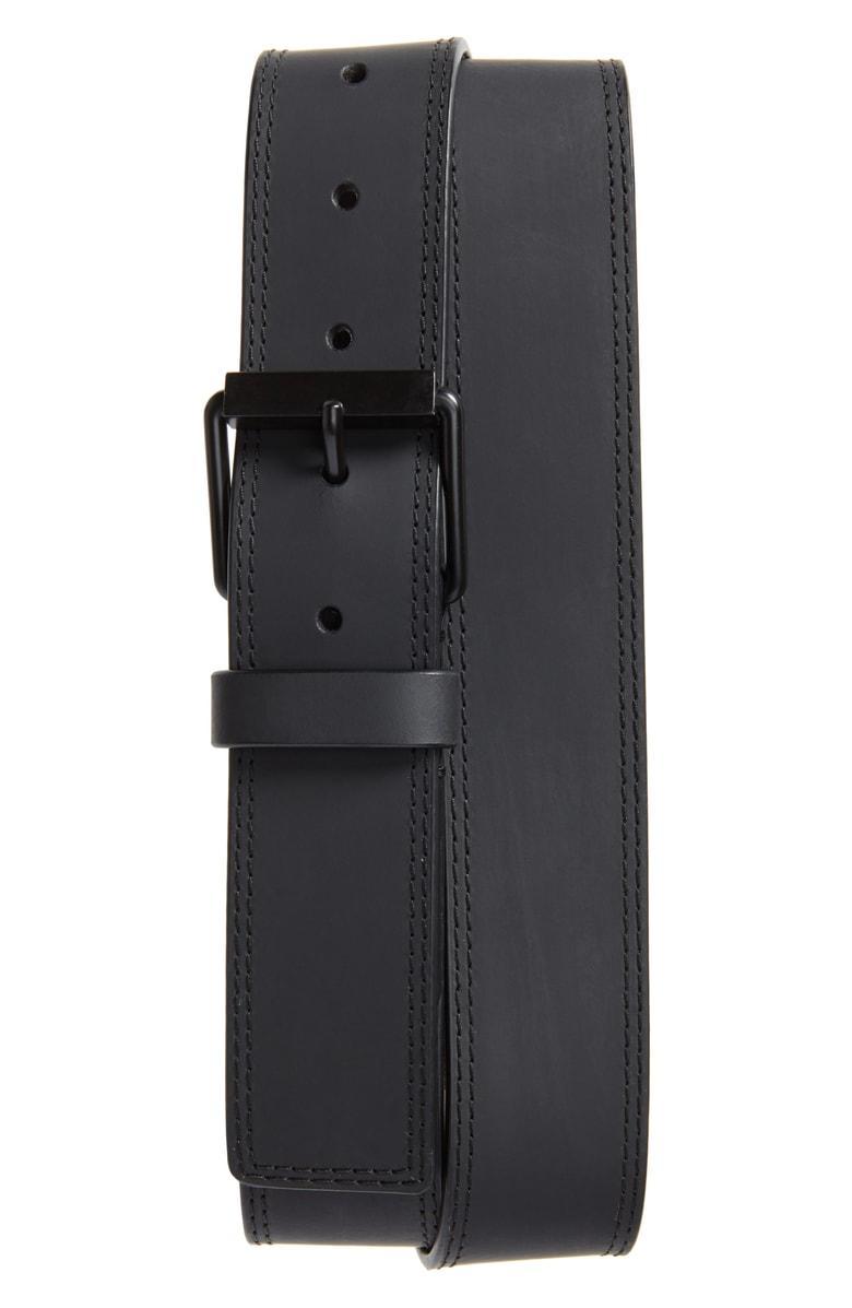 9da191068d3 Calvin Klein Rubberized Leather Belt In Ultimate Black