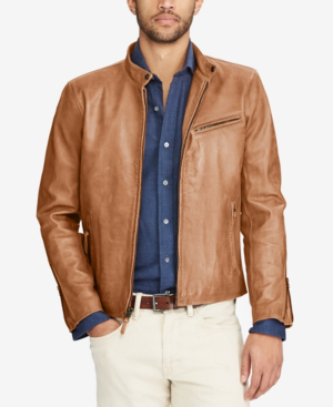Lambskin Cafe Amber Old Racer Leather Jacket In mYf7gyvIb6