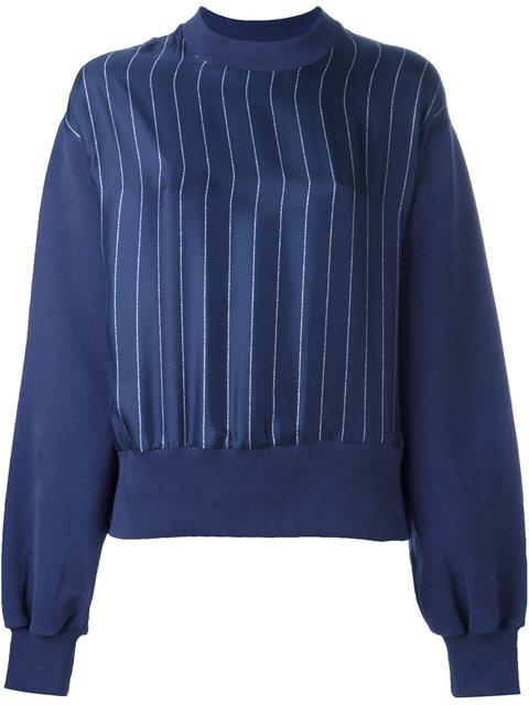 Each X Other Striped Sweatshirt In Dark Blue