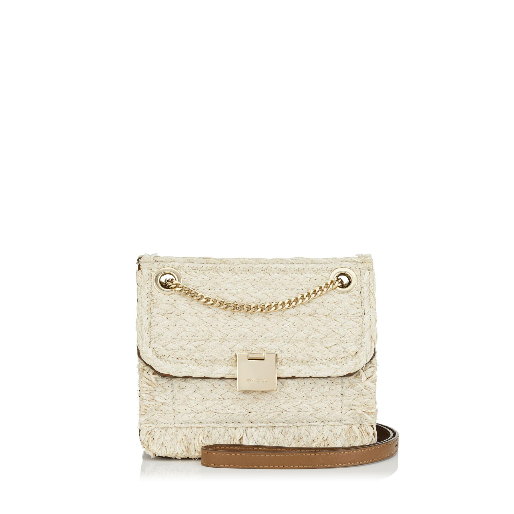 3f2d18e1b54 Jimmy Choo Rebel/Xb Natural Raffia And Cacao Suede Tote Bag In Natural/Cacao