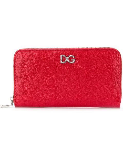 Dolce & Gabbana Zip Around Wallet In Red