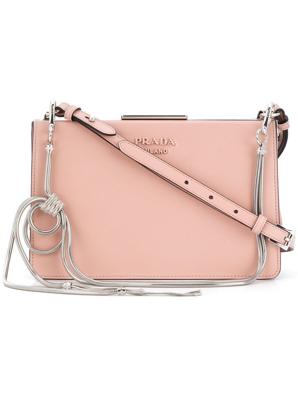 0e8b6aed9529 Prada Light Frame Shoulder Bag