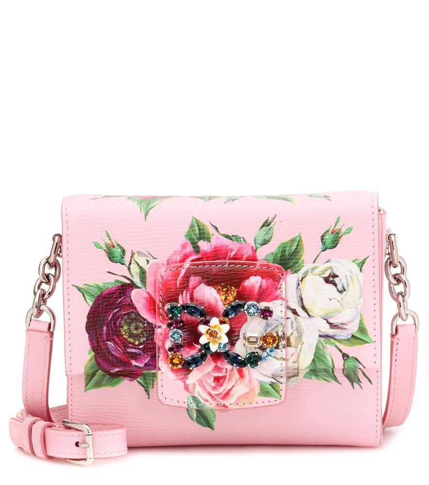 8df8f908e36b2 Dolce   Gabbana Leather Dg Millennials Cross Body Bag In Pink