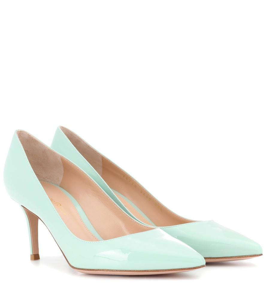 Gianvito Rossi Exclusive To Mytheresa.Com - Gianvito 70 Leather Pumps In Blue