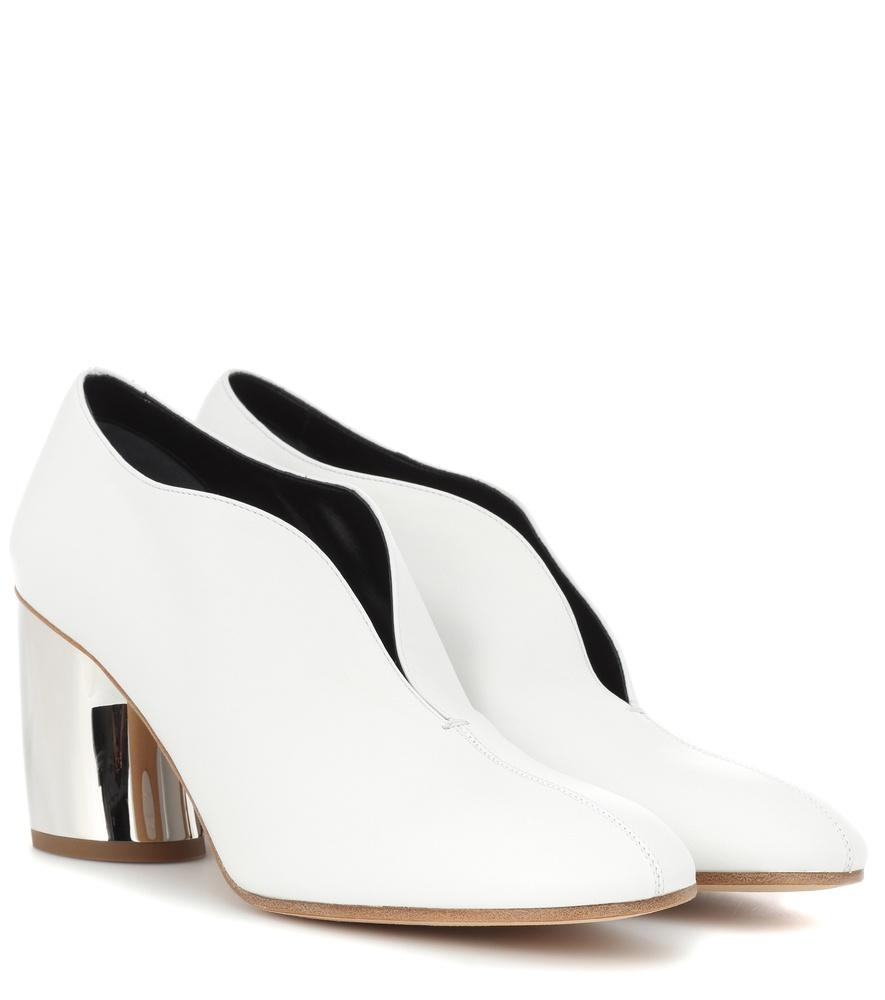 Proenza Schouler Leather Curved Heel Pumps In White