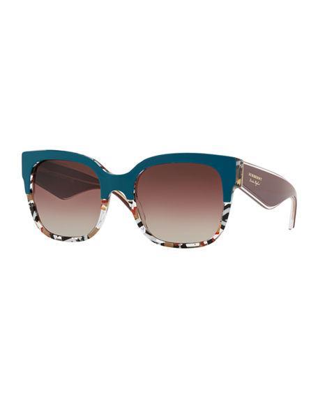 3e8a8c7218b Burberry 56Mm Cat Eye Sunglasses - Dark Green Gradient