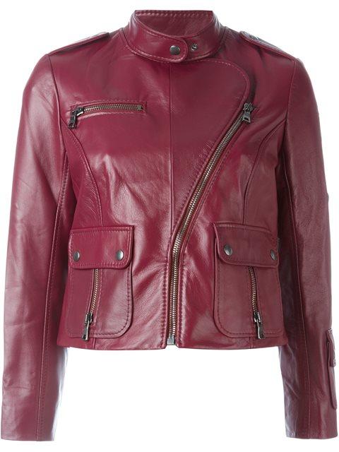 Marc Jacobs Cropped Biker Jacket - Red