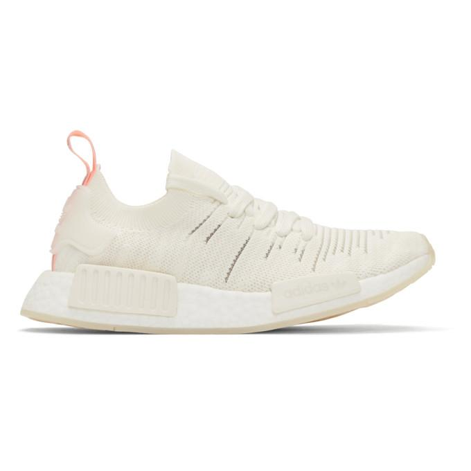 promo code bc32b bc4db Adidas Originals White Nmd R1 Stlt Sneakers in Cloud White