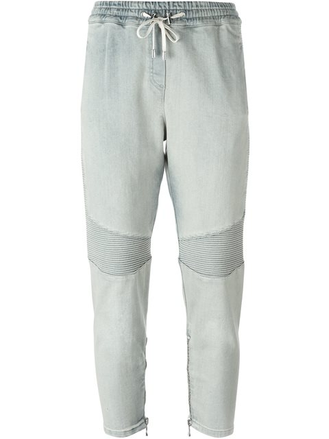 Balmain Cropped Biker Track Pants